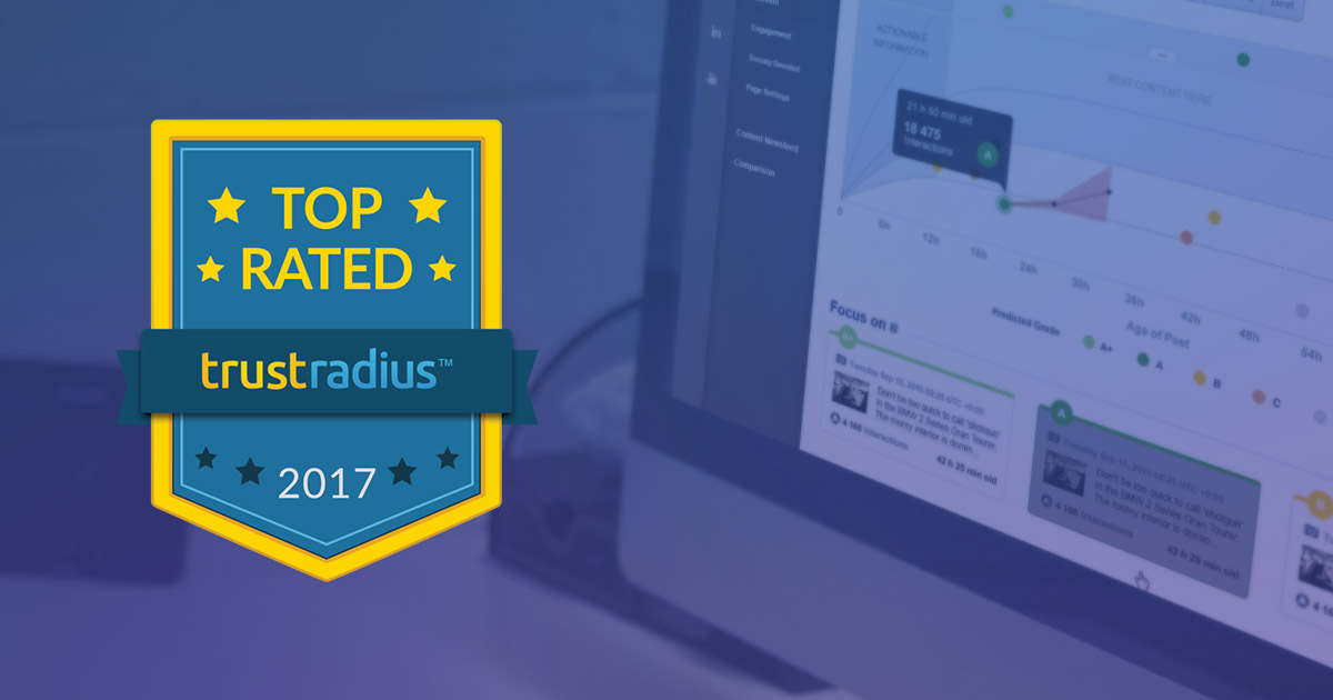 Socialbakers Named a Top Rated Social Media Analytics Tool