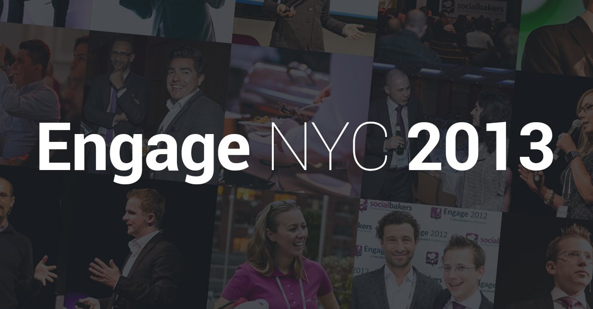 Engage NYC 2013 This Week! First, A Look Back