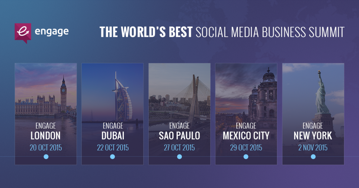 The Socialbakers Engage #DataDriven World Tour is Coming