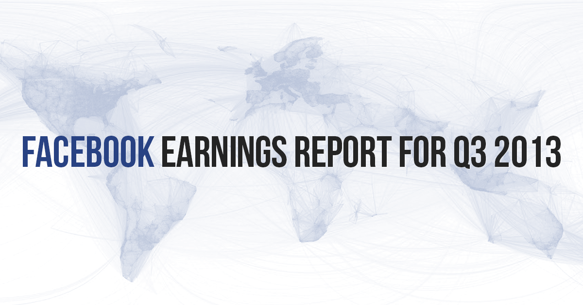 Facebook Earnings Report for Q3: Huge Increase in Ad-Driven Revenue