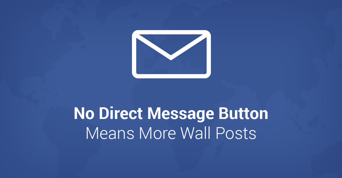 Facebook Pages Without Direct Message Button Get 5X More Wall Posts