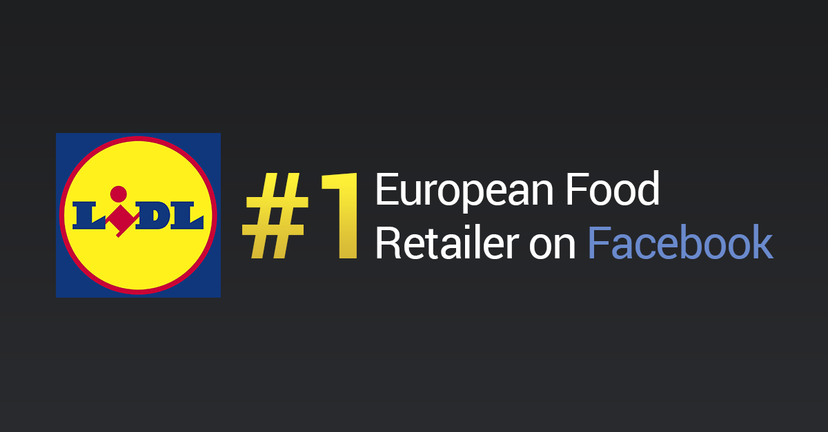 Infographic: Lidl #1 European Food Retailer on Facebook