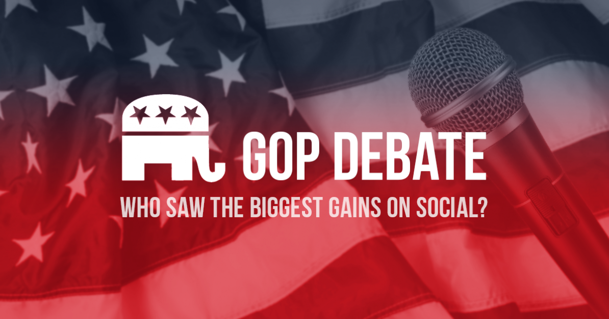 Which GOP Candidates Made the Biggest Gains on Social After the First Debate?