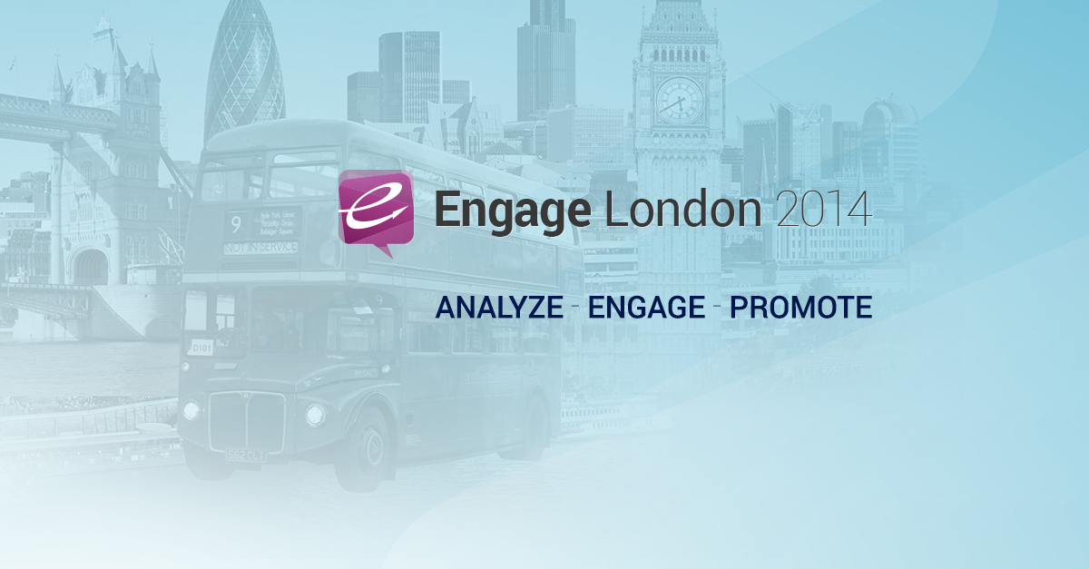 Registration Closing for Engage London 2014. Just A Few Hours Left to Grab Your Seat!
