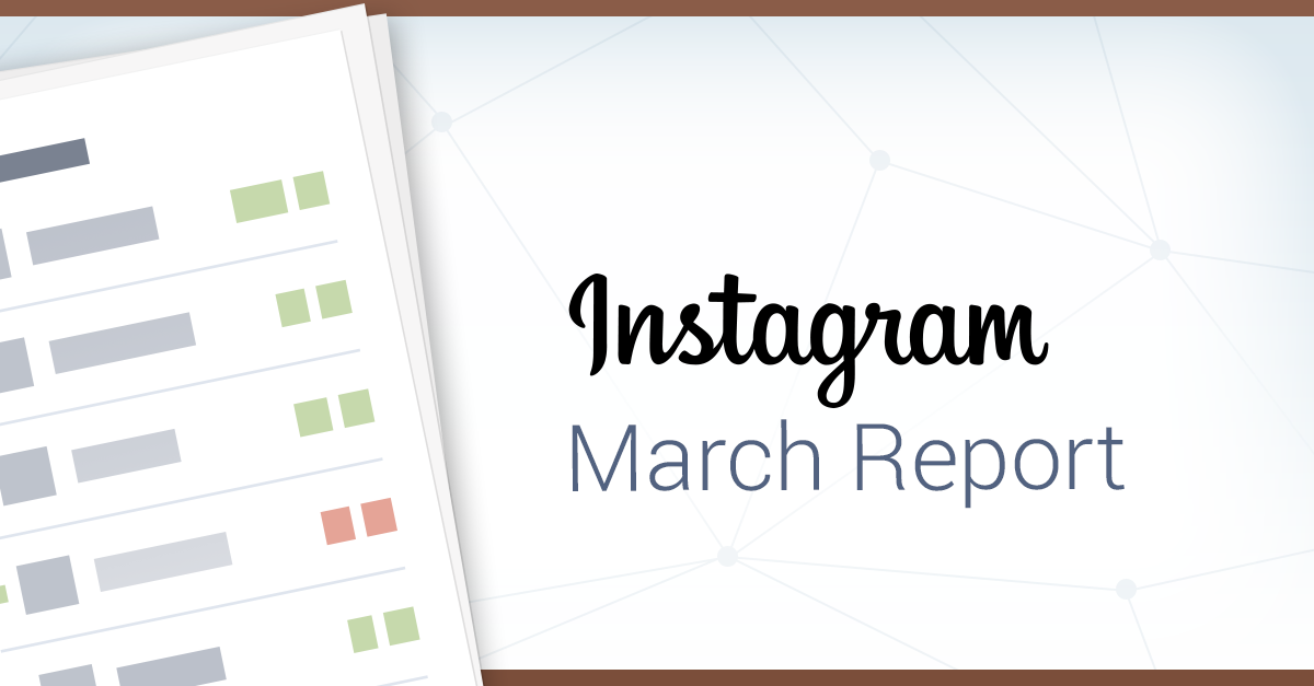 The Instagram Shuffle: Socialbakers March Instagram Report