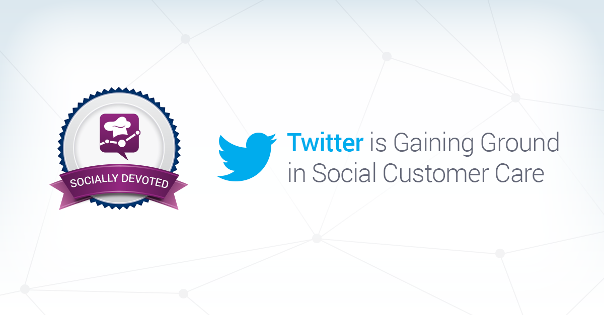 Twitter is Gaining Ground in Social Customer Care