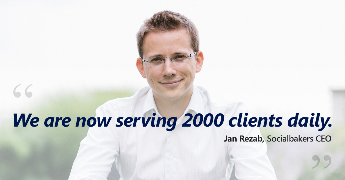 We Are Now Serving 2000 Clients Daily