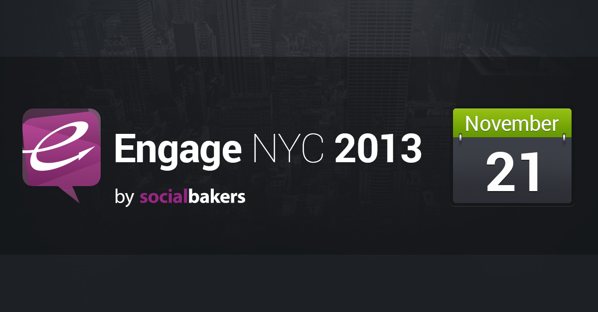 Why Attend ENGAGE NYC 2013?