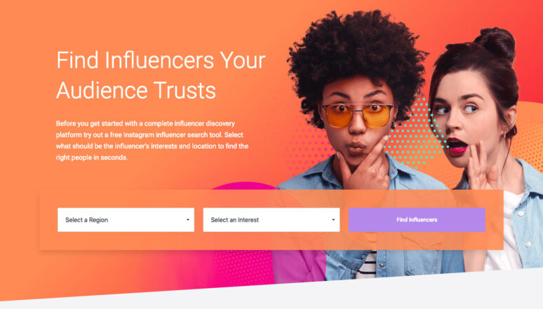 Socialbakers Influencer Search Tool