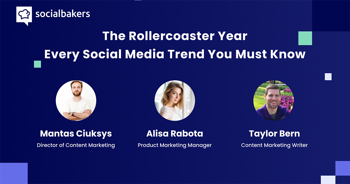 Webinar: Social Media Trends to Know in a Rollercoaster Year