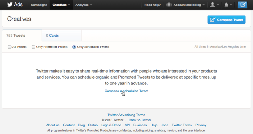 How to schedule a post on Twitter
