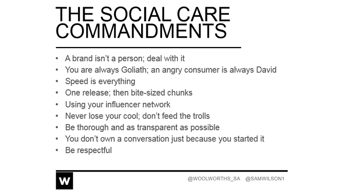Remember Sam Wilson's Social Media Commandments! A marketing team is only as good as its creed.