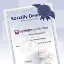How To Get The Socially Devoted Certificate image