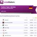 April 2013 Social Media Report: Facebook Pages in Germany image