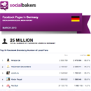 March 2013 Social Media Report: Facebook Pages in Germany image