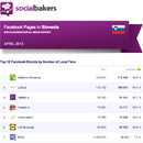 April 2013 Social Media Report: Facebook Pages in Slovenia image